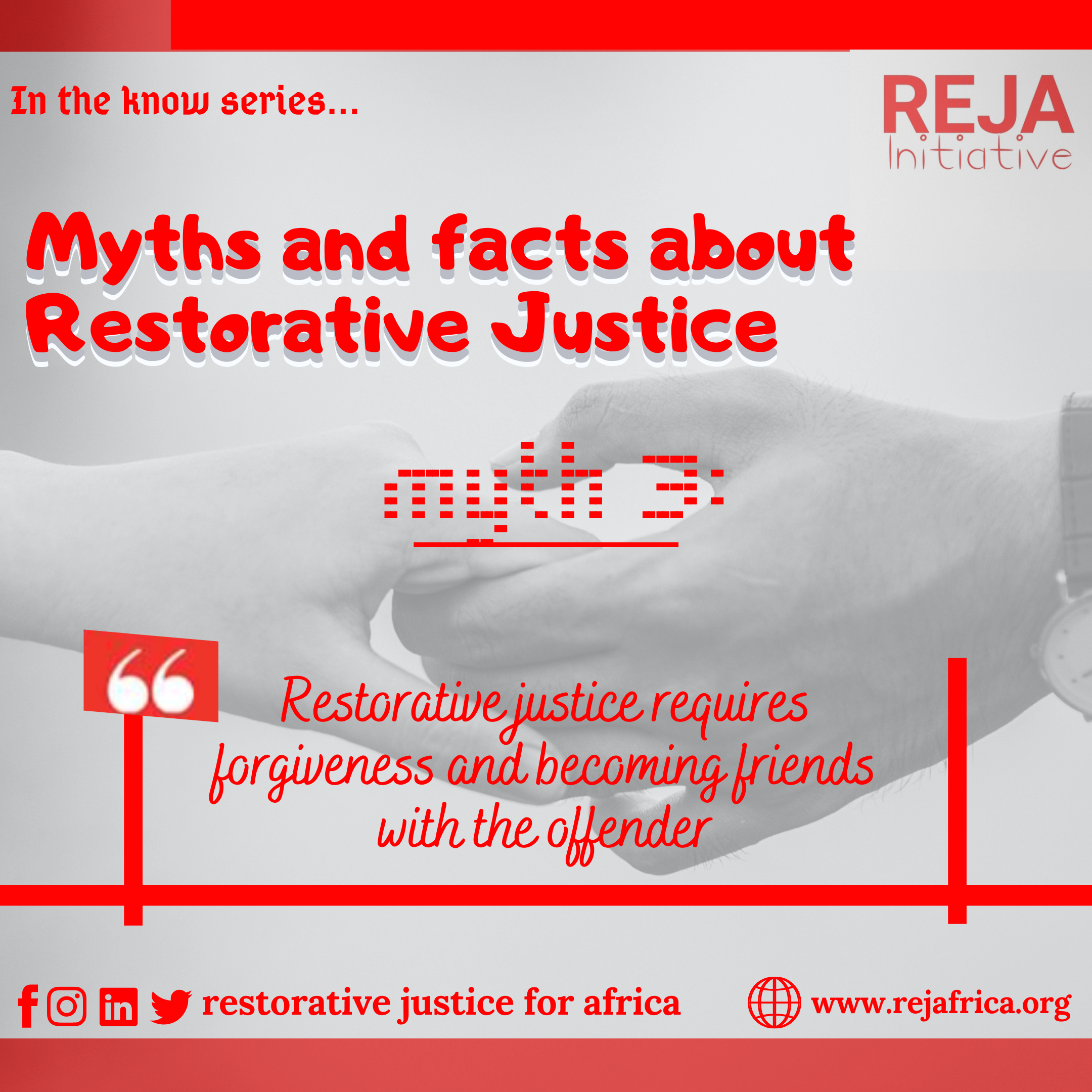 Myths and Facts about Restorative Justice.